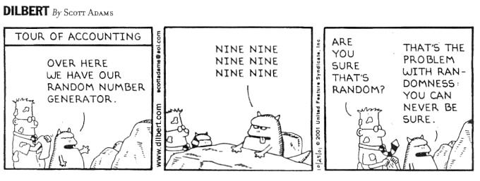 Dilbert randomness